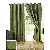 Provence Lined Eyelet Curtain Olive Curtains - 66 x 72