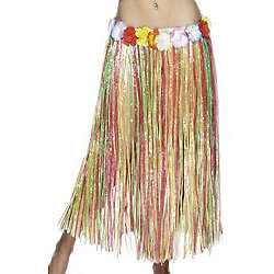 79Cm Hawaiian Hula Skirt Multicolour