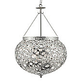 Glamorous Moroccan Style Shiny Nickel Pendant Light with Acrylic detail
