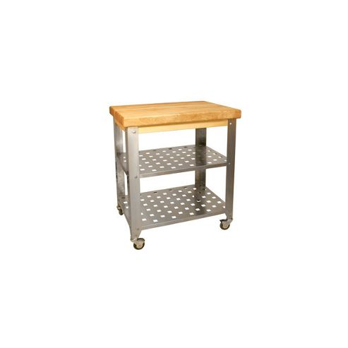 Eddingtons Catskill Butcher Block with Stainless Steel Base