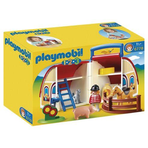 Playmobil 6778 1.2.3 Take Along Barn