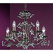 Franklite Fleurette Five Light Chandelier - Bronze
