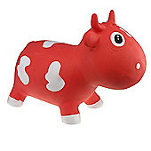 Bella inflatable cow space hopper - red & white