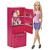 Barbie Glam Fridge and Doll Playset