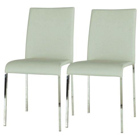 Denna Pair Dining Chairs Light Grey