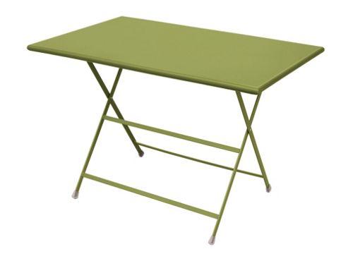 emu Arc En Ciel 110cm Folding Rectangular Table - Green