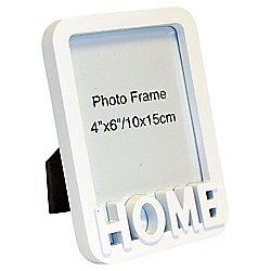 "Home White Photo Frame 4 x 6"""