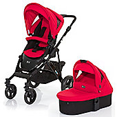 ABC Design Mamba 3 in 1 Pushchair & Carrycot (Black/Cranberry)