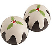 Christmas Pudding Salt And Pepper Set