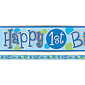 Turtle 1st Birthday Foil Banner - 12ft (each)