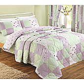 Dreams n Drapes Patchwork Lilac 152x229 Bedspread 120gsm