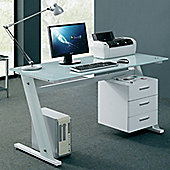 Aspect Design L-Shaped Computer Desk - White