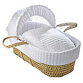 Clair de Lune Palm Moses Basket (Marshmallow White)