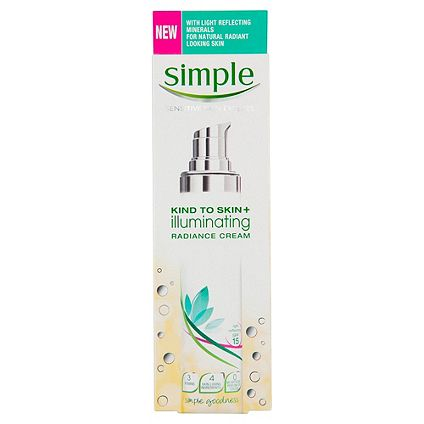 Half price	on selected Simple Skincare