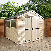 12ft x 8ft Max Plus Tongue And Groove Shed + Drain & Waterbutt Kit + Installation