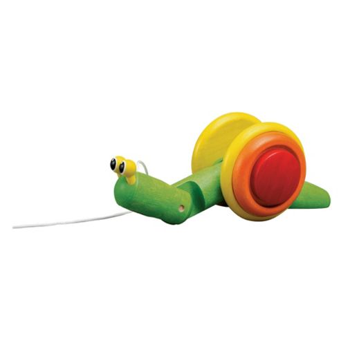 Plan Toys Pull Along Snail Wooden Toy
