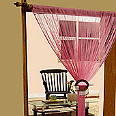Homescapes Polyester Pink String Curtain