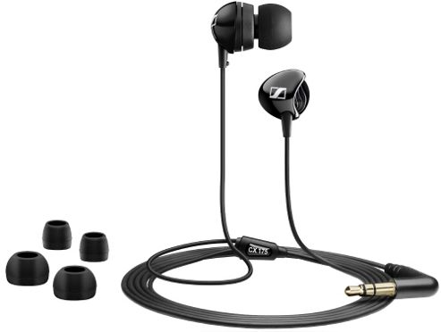 Sennheiser CX175 In-Ear Headphones - Black