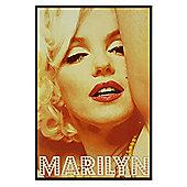 Marilyn Monroe Gloss Black Framed Marilyn In Lights Poster