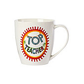 Linea By Mary Fellows Top Teacher Mug In White
