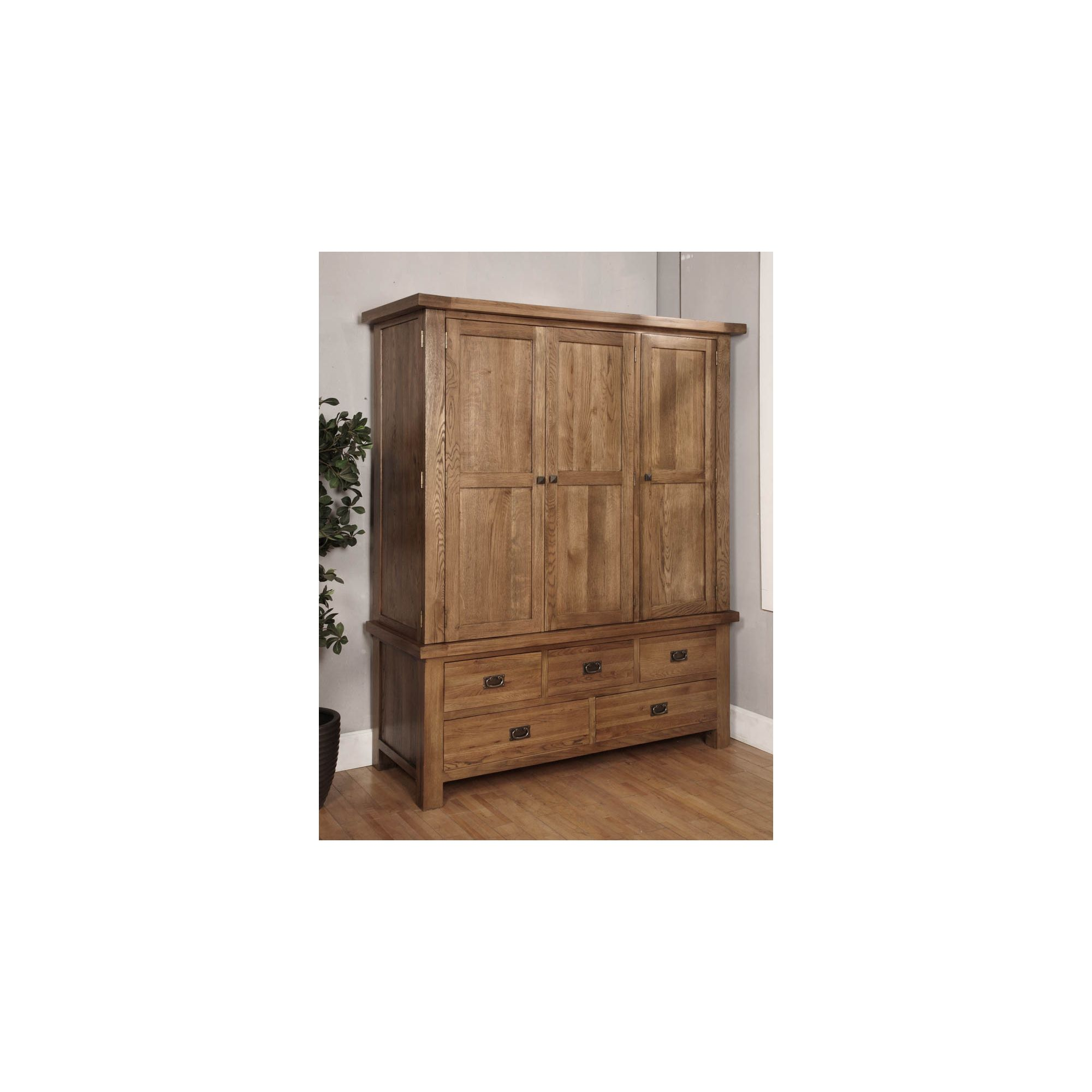 Hawkshead Brooklyn Triple Wardrobe in Rich Patina at Tesco Direct
