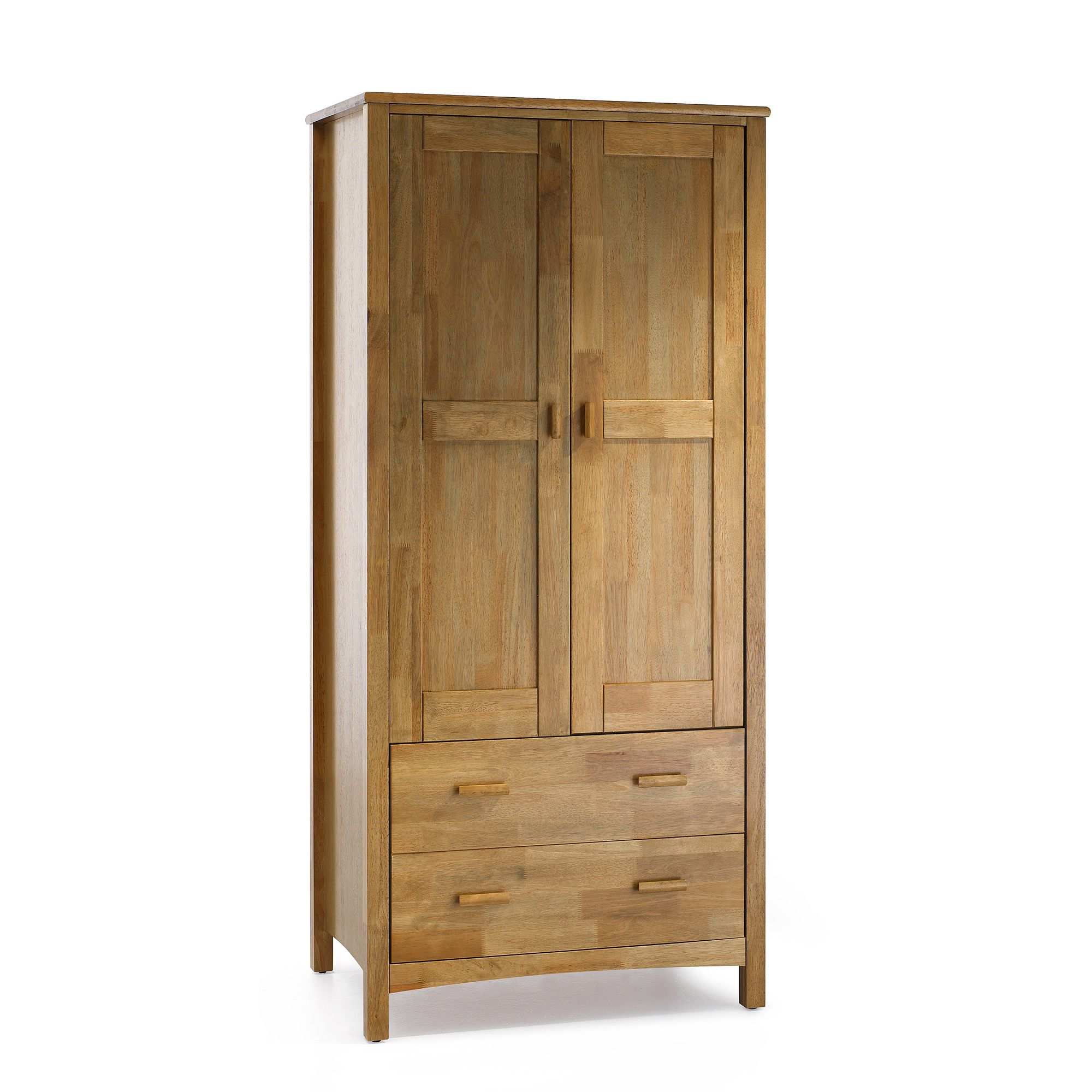 Serene Furnishings Eleanor 2 Door Wardrobe - Honey Oak at Tesco Direct