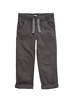 F&F Ribbed Waist Roll Up Trousers - Grey