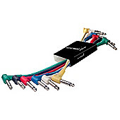 Rocket 6 x Mono Angled Patch Cables - 60cm