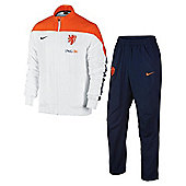 2014-15 Holland Nike Woven Tracksuit (White) - White