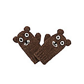 Mothercare Boy's Novelty Bear Mittens Size 6-12 months