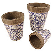 Fallen Fruits Ceramic Round Flowerpots X 3