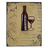 CIMC Home Vintage Wine Bottle Wall Art