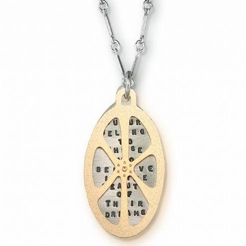 Kathy Bransfield Handmade Necklace - Eleanor Roosevelt