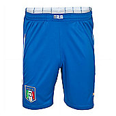 2014-15 Italy Puma Home Shorts (Blue) - Kids - Blue