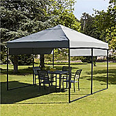 3x3m Grey 'Quick Assembly' Gazebo with 4 Pull Down Blinds