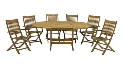 Buy Turnbury 7pc Dining Set Turnbury 120 180 X 120cm Extension Table With 6