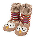 Knitted Bootie Owl Slippers