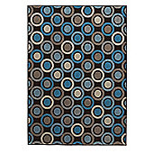 Think Rugs Matrix Brown/Blue Rug - 160 cm x 220 cm (5 ft 3 in x 7 ft 3 in)
