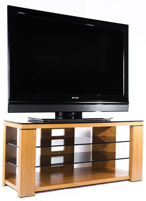 Optimum Natural Oak Edge 1000 Open TV Stand