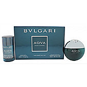 Bvlgari Aqva Pour Homme Gift Set 50ml EDT + 75ml Deodorant Spray For Men