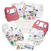 Bambino Mio Miosoft Two-Piece Reusable Birth to Potty Pack (Girl)