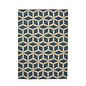 Think Rugs Hong Kong Teal/Beige Tufted Rug - 150 cm x 230 cm (4 ft 11 in x 7 ft 7 in)