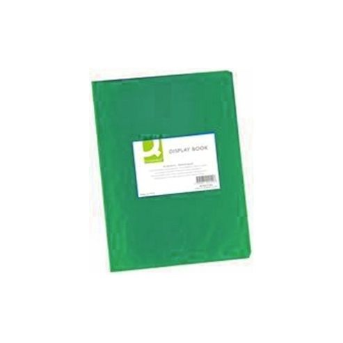 Q-Connect Display Book 20-Pocket Frosted Green