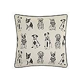 Linea Dog Multi Print Cushion - Cream