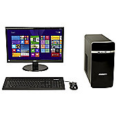 Zoostorm Desktop Bundle 21.5 inch Monitor Intel Core i3 8GB Memory 2TB Storage W8.1HP Black