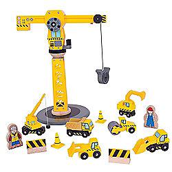 Bigjigs Rail Big Crane Construction Set
