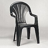 Venetia Anthracite Graphite Grey Armchair