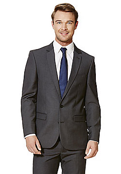 F&F Grey Tailored Fit Suit Jacket - Grey
