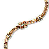 Jewelco London Silver - Love Me Knot - Bracelet - Rhodium & Gold plated