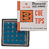 10 x Brunswick Blue Diamond Snooker/Pool Cue Replacement Tips (12mm)